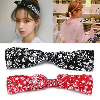 Hot Fashion Women Paisley Retro Bandana Bowknot Hair Band Stretchable Head Wrap