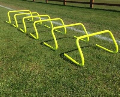 Set of 1 2 3 4 6 10 Agility Hurdles 6 inch Football Speed & Agility Training