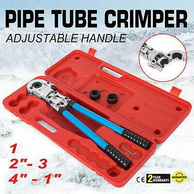 "Plumbing Copper PEX Crimper Press Tube Tools with 1/2""、3/4""、1"" Copper Die​"