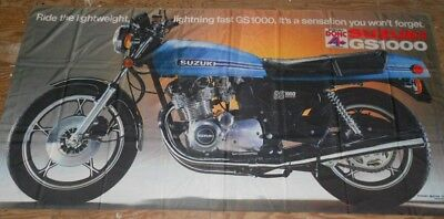 Suzuki GS1000 Extra Large Shop Poster