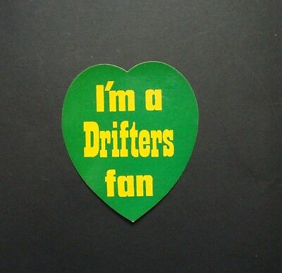 VINTAGE THE DRIFTERS STICKER DECAL BADGE UNUSED MINT NOS EX SHOP STOCK 70s