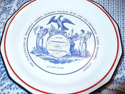 Inaugural Plate- George Herbert Walker Bush Jan.20, 1989