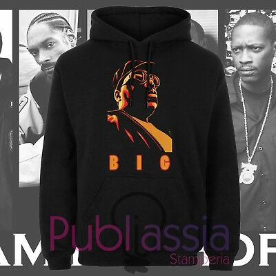Biggie Small Felpe Cappuccio Girocollo Hip Hop Rap Notorious Big idea regalo 36