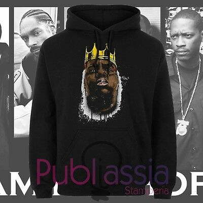 Biggie Small Felpe Cappuccio Girocollo Hip Hop Rap Notorious Big idea regalo 42