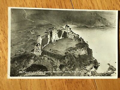Real Photograph Postcard - Tantallon Castle, North Berwick, From The Air.