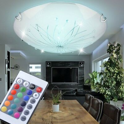 RGB Led Ceiling Lighting Bedroom Lamp Remote Control Dimmer Dxh 30x6, 5 Cm