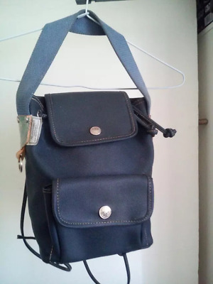 367c9a11188 RARE 80 S canvas and leather blue Fendi fendissime vintage bag backpack