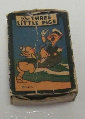 1946 3 Little Pigs Miniature Card Game by Walt Disney Productions & Russell MFG.