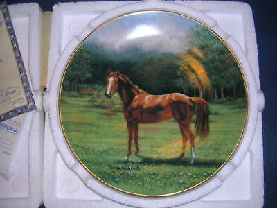 """Majestic Horse Collection collector plate """"The Thoroughbred"""" NIB w/ COA"""