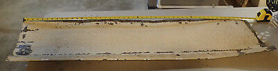 Antique Vtg Architectual Salvage Ceiling Tin Pebble Edge Tile Molding