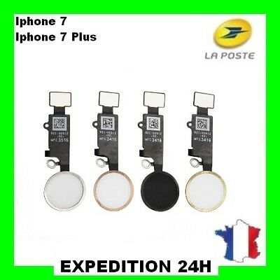 Bouton Home + Nappe Complet Pour Iphone 7 - 7 Plus Original Noir Argent Or Rose