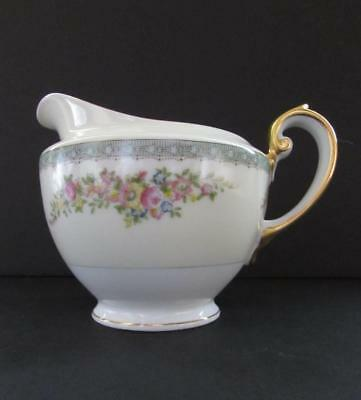 "Vintage MEITO CHINA Hand Painted Footed Creamer Pitcher 3 1/2"" MEI339"
