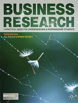 Business Research: A Practical Guide for Undergraduate and Postgraduate-F039