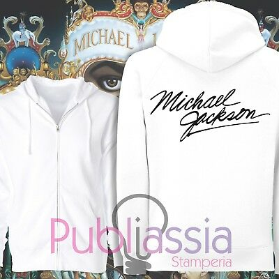 Michael Jackson Felpe Cappuccio Girocollo The King Of Pop MJ Jacko idea regalo12