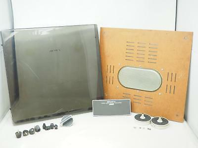 Vintage SONY TC-366 Reel To Reel PARTS Dust Cover Knobs Free Shipping!