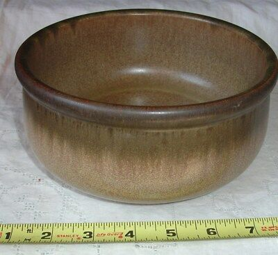 Denby Romany Brown Stoneware 7 inch round vegetable bowl EUC Langley