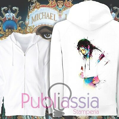 Michael Jackson Felpe Cappuccio Girocollo The King Of Pop MJ Jacko idea regalo23