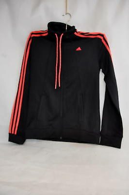 ADIDAS DAMEN TRAININGSANZUG Essentials 3 Stripes schwarzrot M 17 AB0399583