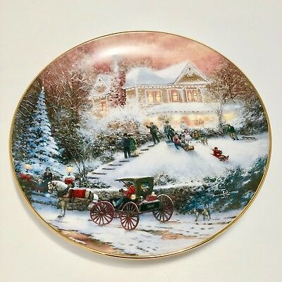 All Friends Are Welcome Collectors Plate Thomas Kinkade Bradford Exchange