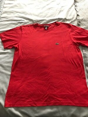 boys red Lacoste t shirt age 16