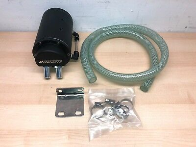 New MISHIMOTO Oil Reservoir Catch Can/Tank Black - Free Shipping