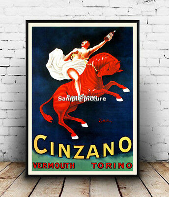 AD79 Vintage Italian Vermouth Bianco Wine Advertisement Framed Poster A3//A4