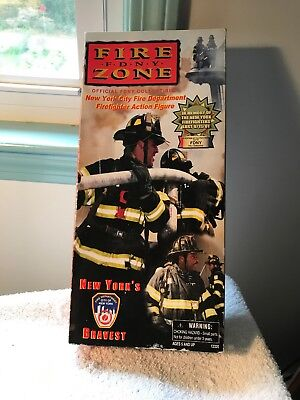 "Fire Zone F.D.N.Y. 12"" Action Figure—9/11 Memorial Toy-New In Box"