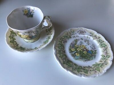 Royal Doulton Brambly Hedge Trio - Spring Cup, Saucer And Tea Plate. 1St Quality