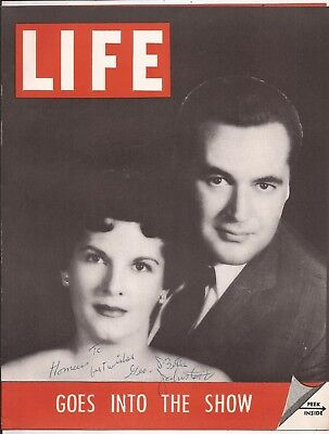 GEORGE & BETTY JOHNSTONE PROMOTIONAL FLYER - Signed