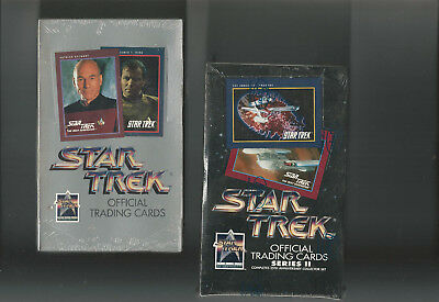 Star Trek Series 1 & 2 - Impel Trading Card Boxes - Factory Sealed - 1991