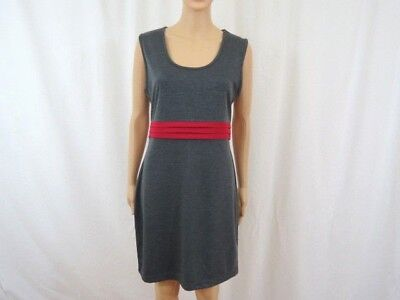 fbe1424f7d PLANET GOLD COUTURE Sz M Black Gray Sleeveless Fitted Polyester ...