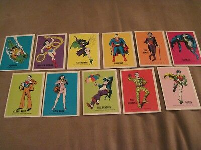 1974 MINT Wonder Bread DC Heroes Set of 11 Trading Cards National Periodicals