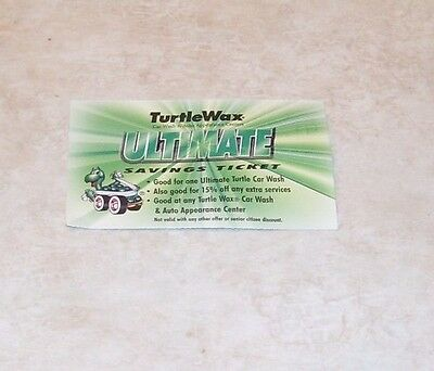 Turtle Wax Car Wash Gift Certificate! Full Service Wash!!