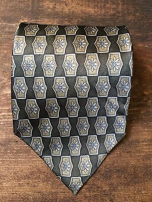 Cocktail Collection Mens Necktie-Tie-Fashion Accessory-Floral-100% Silk-Green