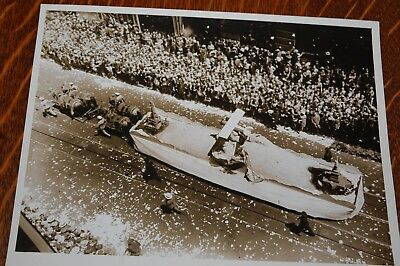 Vintage Photograph Float Nyc Parade Honoring Lindbergh 1927