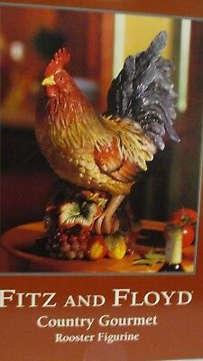 Fitz & Floyd Large Country Gourmet Rooster Figurine, Original Box
