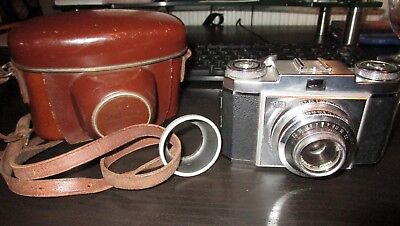 Vintage Zeiss Ikon 35mm Camera With Leather Case