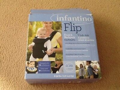 Infantino Flip Front & Back Baby backpack Carrier With Box