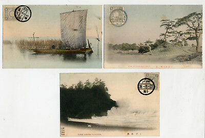 JAPAN-LOT 3 Old P/c POSTED 1905