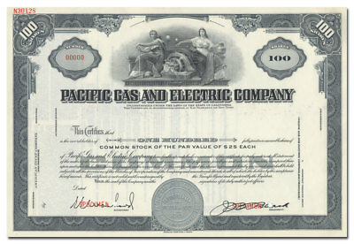 Pacific Gas and Electric Company Specimen Stock Certificate