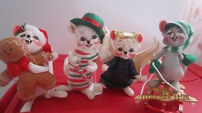 Annalee Lot of Four Holiday Mice