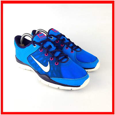 Nike Flex Trainer 3 Womens Blue Running Trainers UK 6 / 40 Shoes Model 580374