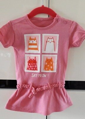 °°° Robe chat rose T.80 °°°