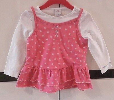 °°° S.OLIVER robe rose a coeurs  T. 80 Neuf °°°