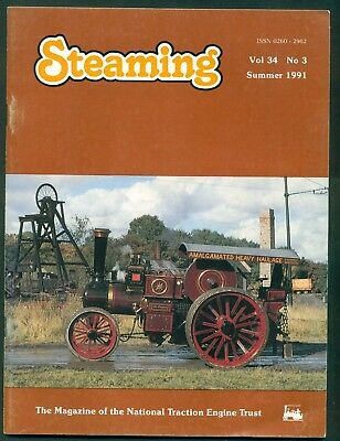 STEAMING- MAGAZINE OF THE NATIONAL TRACTION ENGINE TRUST- 1991. VOL 34   No 3