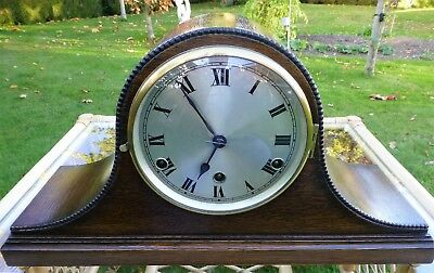 Napoleon Hat Mantel Clock 8 day Westminster chiming fully working