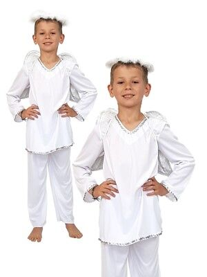 Angel Gabriel Trouser Suit Boys Girls Christmas Nativity Fancy Dress Costume