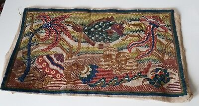 Antique Vintage Early 20Th Century Handmade Wall Tapestry