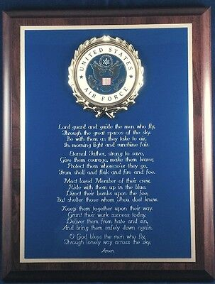 Us Air Force Gift ~ Usaf Air Force Prayer Wall Plaque- Great Gift Or Award !