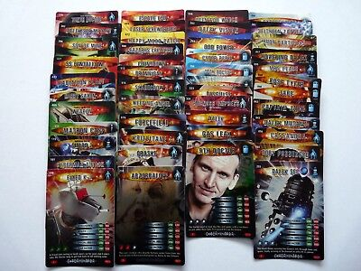 45 x  RARE Dr Who  battles in time cards(no duplicates)
